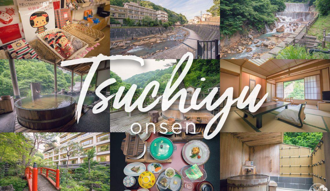แช่น้ำร้อนสุดฟิน กลางน้ำตกและหุบเขาที่ Tsuchiyu onsen